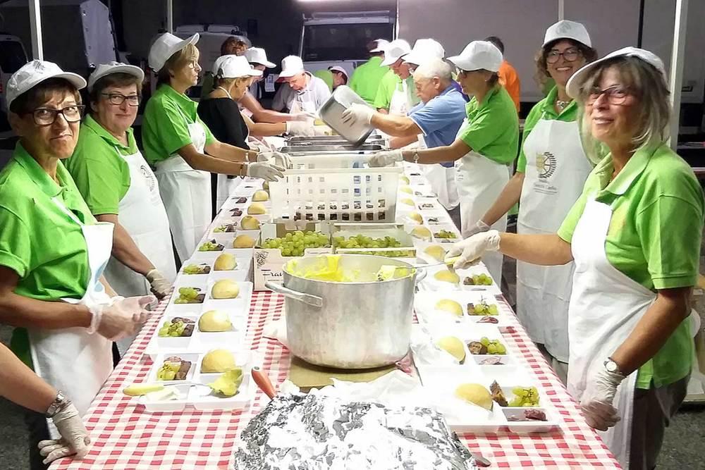 preparazione tapulonata festa dell uva borgomanero novara